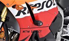 R&G Racing PAIR BLACK CRASH BOBBINS fit Honda CBR600RR 2013 -2016 NON DRILL KIT