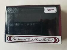 Eel Grained Credit Card Tri-Fold New With Box