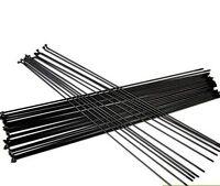 Black 36PCS 14G 2mm Bicycle Cycle Wheel Spokes 220-300mm J bend Spoke W/ Nipples
