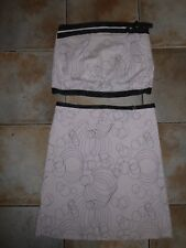 TOPSHOP Ladies Skirt and Top Pink Outfit UK 14 (Excellent Condition)