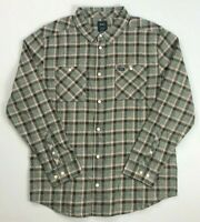 Men's RVCA Regular Fit Hero Plaid Button-Front Long Sleeve Shirt Brown/Pink