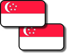 Vinyl sticker/decal Small 70mm  Singapore flags - pair