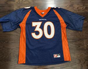Vintage Team Nike Terrell Davis 30 Denver Broncos NFL Football Jersey Mens Sz 48