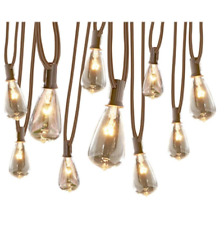 10-Light White Plug-in Bulbs String Lights 13-ft Edison Patio Deck Accent Decor