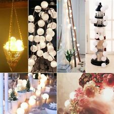 Warm 20 LED Cotton Ball String Fairy Lights Indoor Party Decor Xmas Thanksgiving