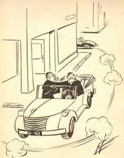 Friars Road Rage - 1960 Humorama gag art by Lo Linkert