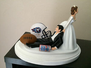 Tennessee Titans Cake Topper Bride Groom Wedding Day Funny Football Theme