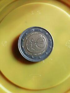 pièce de 2 euro FAUTÉ décalé UEM 1999-2009 Espagne