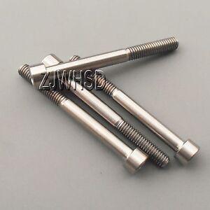 4pcs M6 x 60 Titanium Ti Screw Bolt Allen hex Socket Cap head / Aerospace Grade