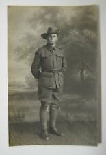 1918 Australian Wwii Rppc Soldier Studio Portrait taken in Blighty Gb France Vtg