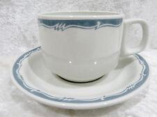 Bristile / Wembley ware - Cup & Saucer  vgc  blue / grey zigzag band