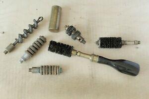 Antique Shotgun Case 12g Chamber Brush Cleaning Rod Gunsmith Turnscrew Gun Oil