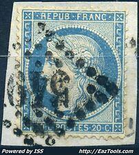 FRANCE CERES N° 37 AVEC OBLITERATION SUR FRAGMENT