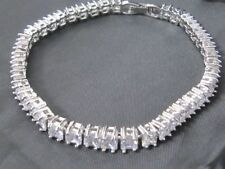 Simulated White Gold Filled Costume Bangles