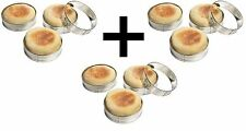Fox Run 4pc English Muffin Rings Crumpet Cookie Biscuit Egg Set of 3 Boxes