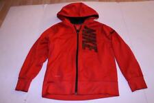 Youth Boys Nike Dri Fit M Red Zip Up Hooded Jacket