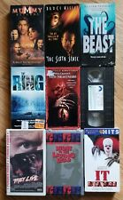 Lot of 9 Horror VHS... The Ring, They Live, Pet Semetary & More!