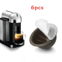 6pcs/set Refillable Reusable Coffee Capsule Pod For Nespresso Vertuo Accessories