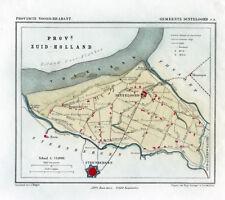 ANTIQUE MAP-HOLLAND-DINTELOORD-NOORD BRABANT-KUYPER-1865