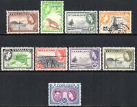 1953 Nyasaland Sg 173/185 Short Set of 9 Values Mounted Mint/Fine Used
