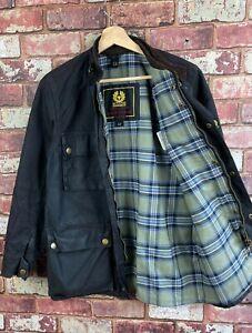 Womens Belstaff Belted Waxed Fully Lined Jacket Size 42 UK 10 J329