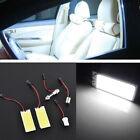 2PCS HID Xenon White 36 COB LED Dome Map Bulb Light Car Interior Panel Lamp 12V