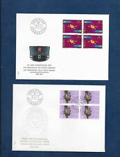 SWITZERLAND 1974 PUBLICITY ISSUE BLOCKS OF 4 ON FDC's