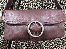 OROTON Leather Shoulder Bag Baguette Plum *RARE COLOUR* Cute Dust Bag Included😎