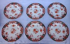 Royal Crown Derby Dinner Plates2150 IMARI FLOW BLUE China England Set of 6