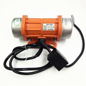 AC Vibration Motor 15-120W Vibrating Asynchronous Vibrator 220V 3450RPM 50/60HZ