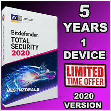 BITDEFENDER TOTAL SECURITY 2020 - 5 YEARS FOR 1 DEVICE - DOWNLOAD