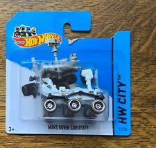 Hot Wheels Mars Curiosity Rover dusty wheel version short card MOC