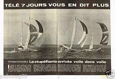 Coupure de presse Clipping 1979 (4 pages) Transat en Double Eugène Riguidel