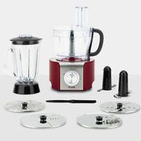 8 in 1 Multifunktions-Küchenmaschine 800W 1,5l Rot HKoenig MX18