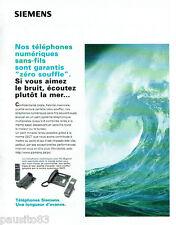 PUBLICITE ADVERTISING 125  1996  SIEMENS  téléphones numériques sans fil
