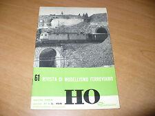 RIVISTA DI MODELLISMO FERROVIARIO HO RIVAROSSI N.61 APRILE 1964 OTTIMO
