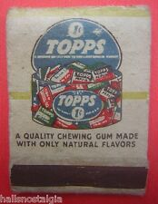 1950's Topps Chewing Gum Matchbook with 1-cent Bubble Gum Ad