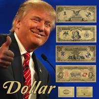 WR US Gold Banknote Set of 1899-1901 $1 $2 $5 $10 Black Eagle Chief Bison Notes