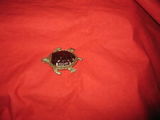 More details for vintage novelty nickel plated turtle vesta case/match safe