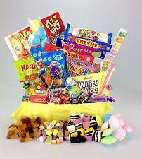 """""""Happy Birthday """" The DELUXE Retro Sweet Hamper Box Large Mix 16 18 21 30 40 50"""