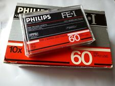 CASSETTE TAPE BLANK SEALED! - 1x (one) PHILIPS FE* I 60  [1985]  made in Belgium