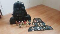 Vintage 1980 Star Wars Collectors Darth Vader Case Kenner + 10 Action Figures
