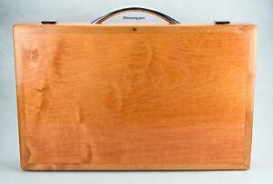 PARKER DUOFOLD WRITING WOOD PEN SUITCASE (empty) / Holzkoffer für Schreibgeräte