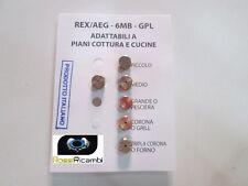 ELECTROLUX SERIE UGELLI PIANO COTTURA CUCINE GAS 5 FUOCHI + FORNO- GAS GPL - 6MB
