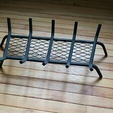 "Wrought Iron Fireplace Log Holder Firewood Grate Basket Burning Rack 27"""
