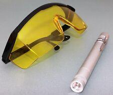 LED UV-Taschenlampe Handlampe -und Schutzbrille KFZ Klimaanlagen Lecksuch Lampe
