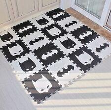 Children Soft Playground Batman Puzzle Mat Baby Foam Play Floor Pad Black&White