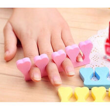 2Pcs Sponge Foam Finger Toe Separator Nail Art Manicure Pedicure Tool