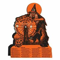 Witch Fortune Wheel Game Vintage Style Halloween Party 9.25 x 6.75 Inches New