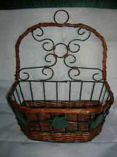 "UNIQUE  WIRE/ WICKER BASKET (CREATE YOUR OWN IDEA) 11"" X 11"" X 6"" X 4 3/4"" DEEP."